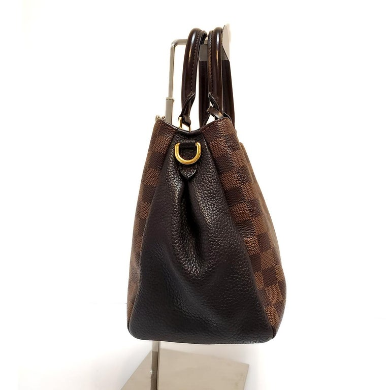 Louis Vuitton Brittany Brown Damier Ebene Hand Bag In Good Condition For Sale In Columbia, MO