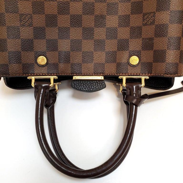 Women's Louis Vuitton Brittany Brown Damier Ebene Hand Bag For Sale