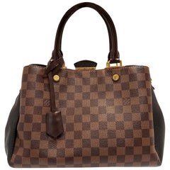 Louis Vuitton Brittany Brown Damier Ebene Hand Bag