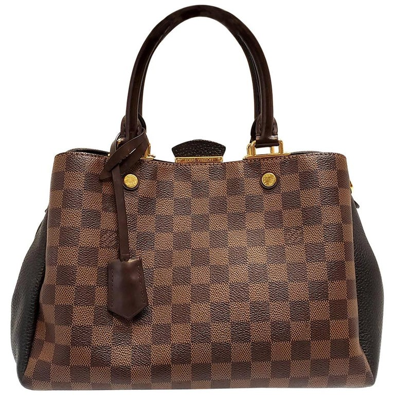 Louis Vuitton Brittany Brown Damier Ebene Hand Bag For Sale