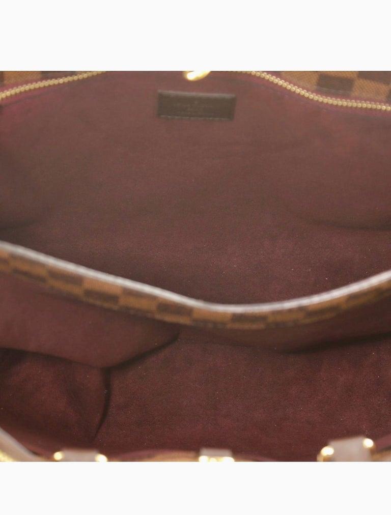 Women's Louis Vuitton Brompton Handbag Damier Ebene Coated Canvas Tote, TR1136, Like New For Sale