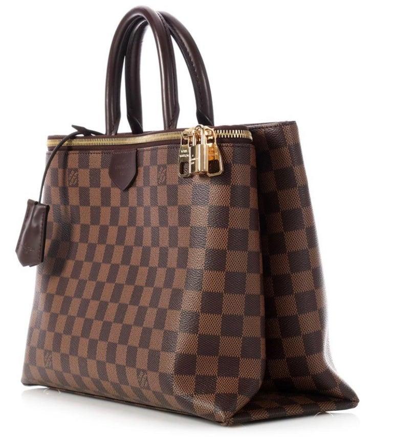 Louis Vuitton Brompton Handbag Damier Ebene Coated Canvas Tote, TR1136, Like New For Sale 1