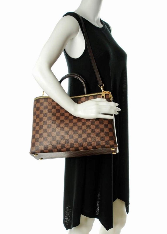 Louis Vuitton Brompton Handbag Damier Ebene Coated Canvas Tote, TR1136, Like New For Sale 2