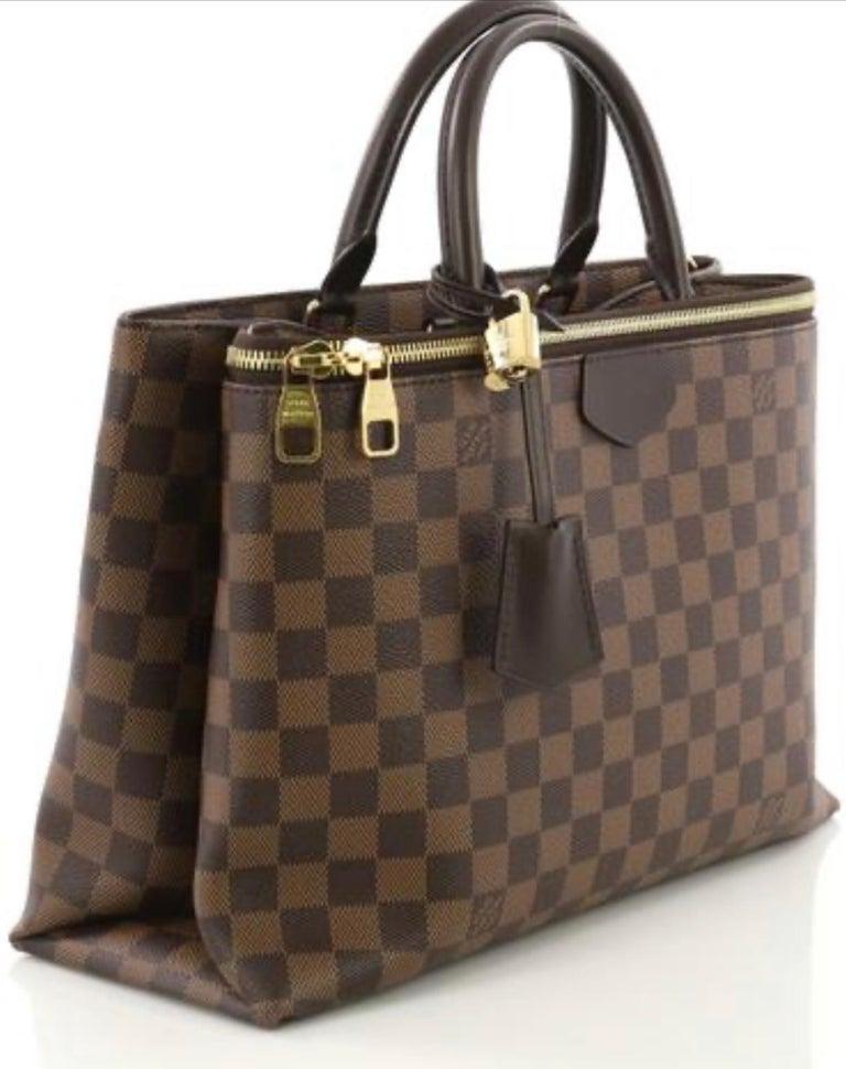Louis Vuitton Brompton Handbag Damier Ebene Coated Canvas Tote, TR1136, Like New For Sale 3