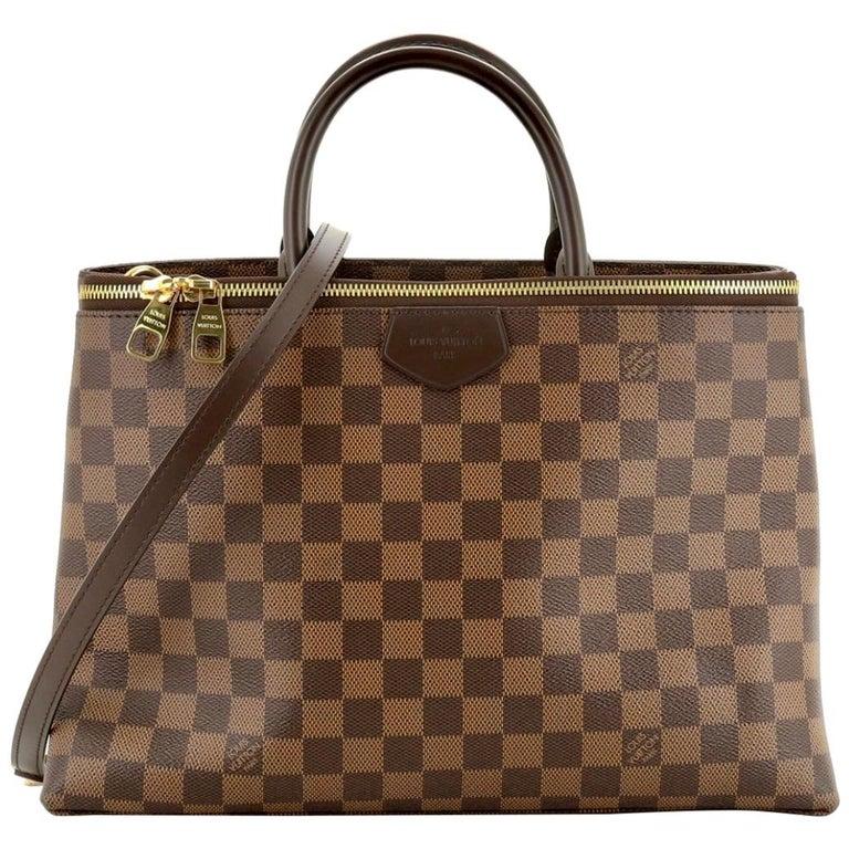 Louis Vuitton Brompton Handbag Damier Ebene Coated Canvas Tote, TR1136, Like New For Sale