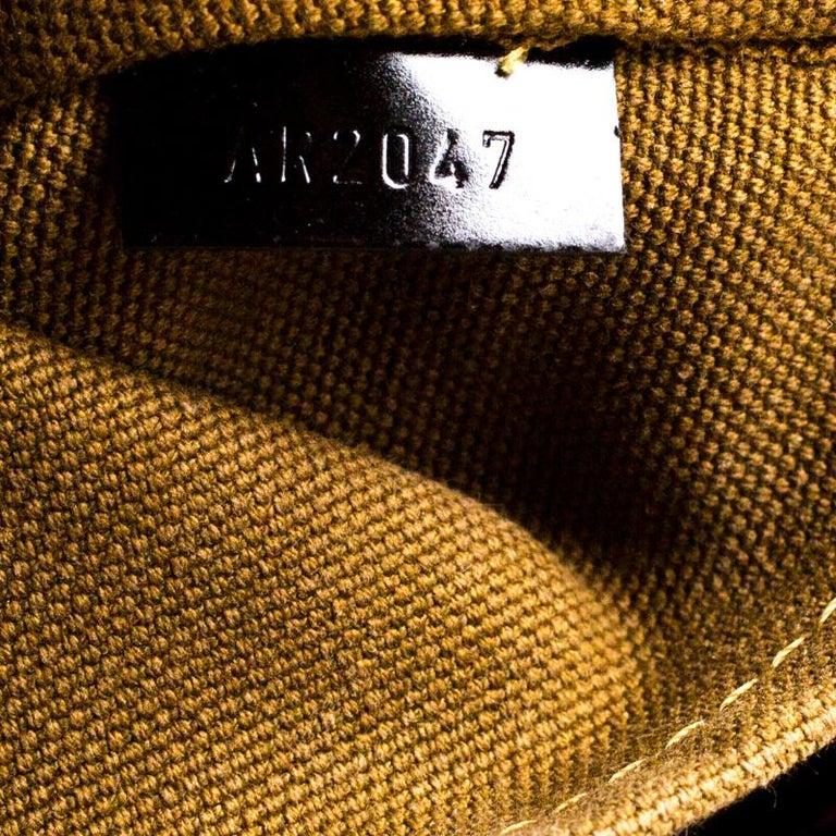 Women's Louis Vuitton Bronze/Dark Brown Monogram Embossed Limited Edition Sergent GM Bag For Sale