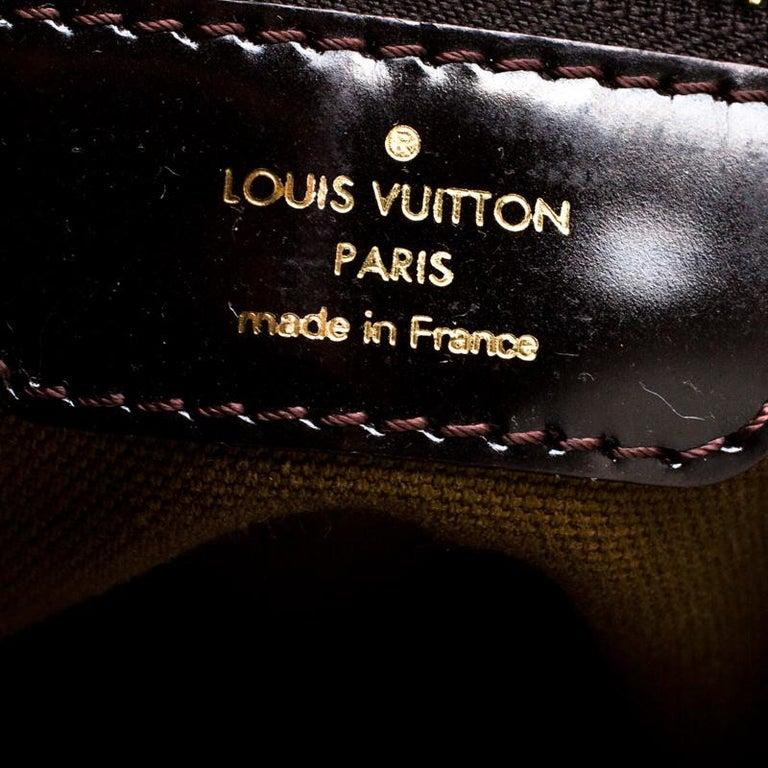Louis Vuitton Bronze/Dark Brown Monogram Embossed Limited Edition Sergent GM Bag For Sale 1