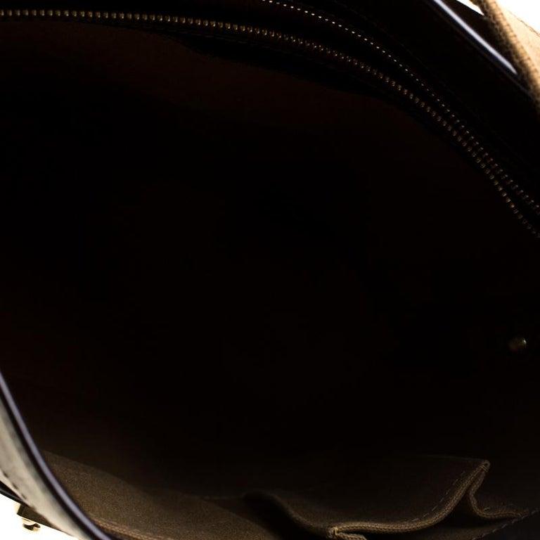 Louis Vuitton Bronze/Dark Brown Monogram Embossed Limited Edition Sergent GM Bag For Sale 2