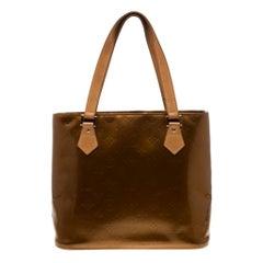 Louis Vuitton Bronze Monogram Vernis Leather Houston Bag