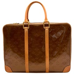 Louis Vuitton Bronze Monogram Vernis Vandam Briefcase