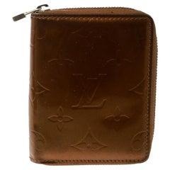 Louis Vuitton Bronze Monogram Vernis Zippy Coin Wallet