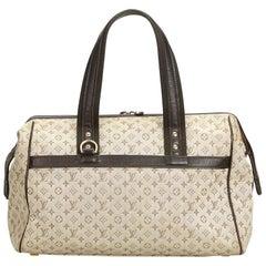Louis Vuitton Brown Beige Cotton Fabric Mini Lin Josephine GM France