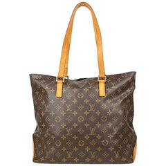 Louis Vuitton Brown Cabas Monogram Mezzo Tote Bag