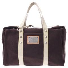Louis Vuitton Brown Canvas Carryall Men's Women's Top Handle Travel Tote Bag