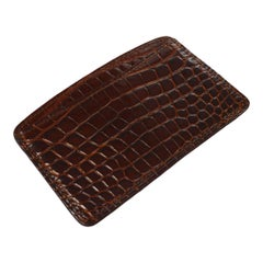 Louis Vuitton Brown Crocodile Exotic Small Men's Women's Wallet Card Case
