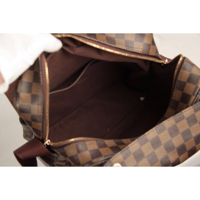 Louis Vuitton Brown Damier Ebene Canvas Naviglio Messenger Bag For At 1stdibs