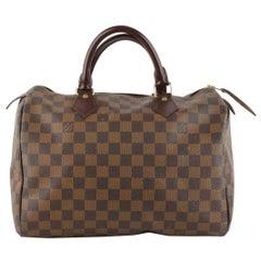 Louis Vuitton Brown Damier Ebene Canvas Speedy 30 Handbag
