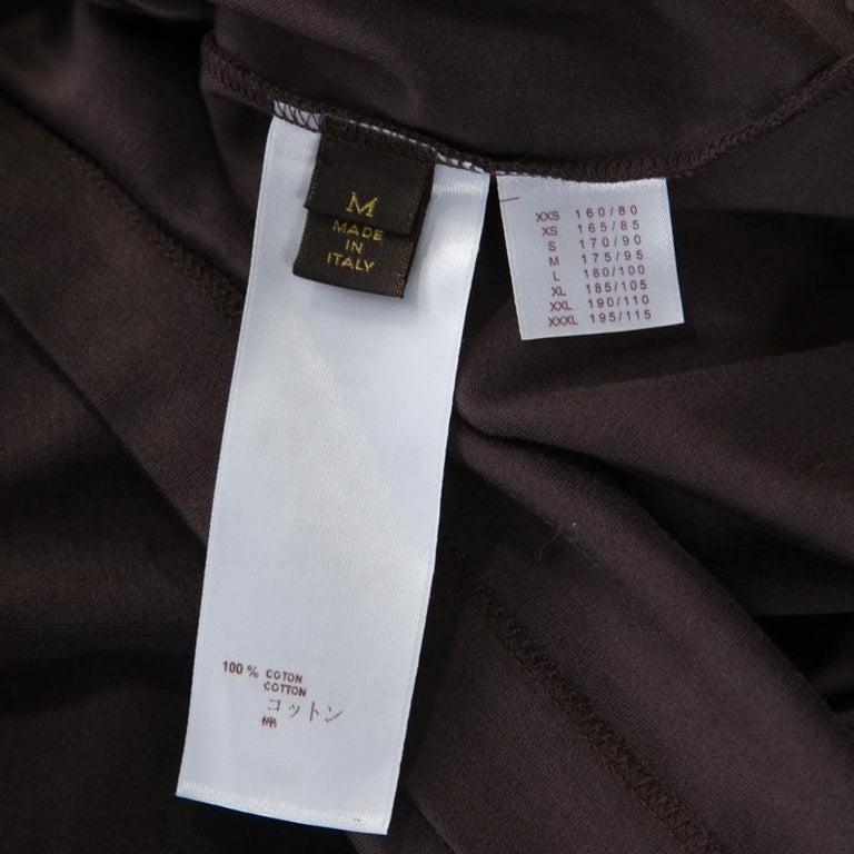 Women's Louis Vuitton Brown Damier Pocket Trim Detail Short Sleeve T-Shirt M For Sale