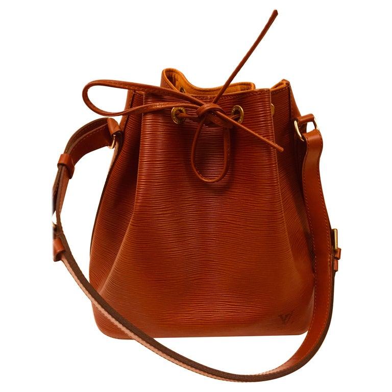 Louis Vuitton Brown Epi Bucket Drawstring Bag  For Sale