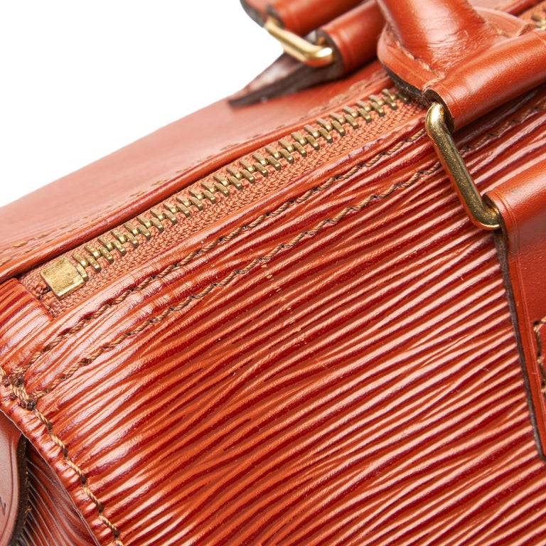 Louis Vuitton Brown Epi Leather Leather Epi Speedy 25 France For Sale 6