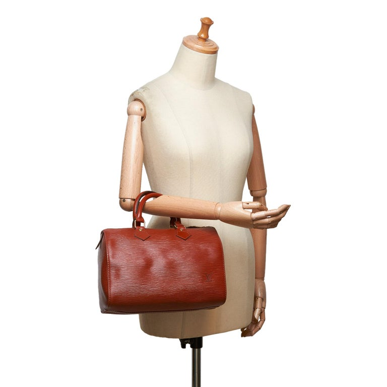 Louis Vuitton Brown Epi Leather Leather Epi Speedy 25 France For Sale 7
