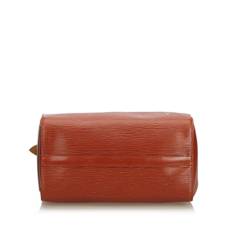 Women's Louis Vuitton Brown Epi Leather Leather Epi Speedy 25 France For Sale