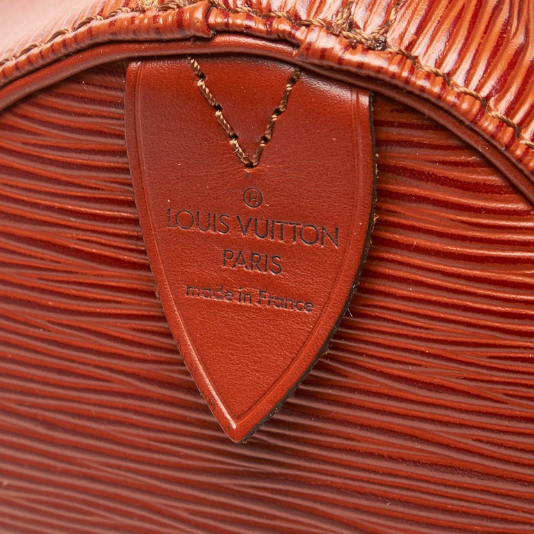 Louis Vuitton Brown Epi Leather Leather Epi Speedy 25 France For Sale 1