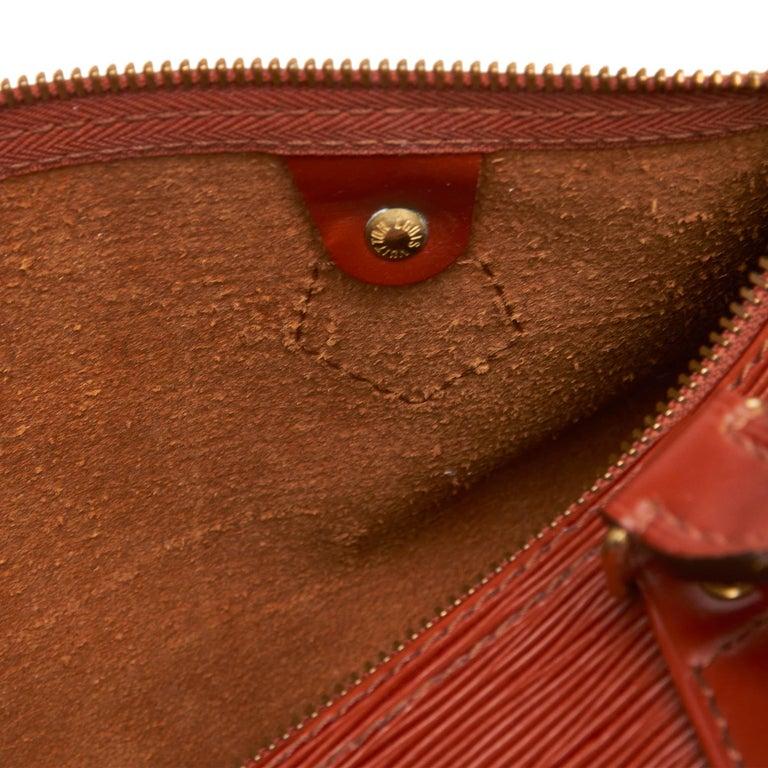 Louis Vuitton Brown Epi Leather Leather Epi Speedy 25 France For Sale 3