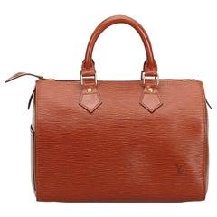 Louis Vuitton Brown Epi Leather Leather Epi Speedy 25 France