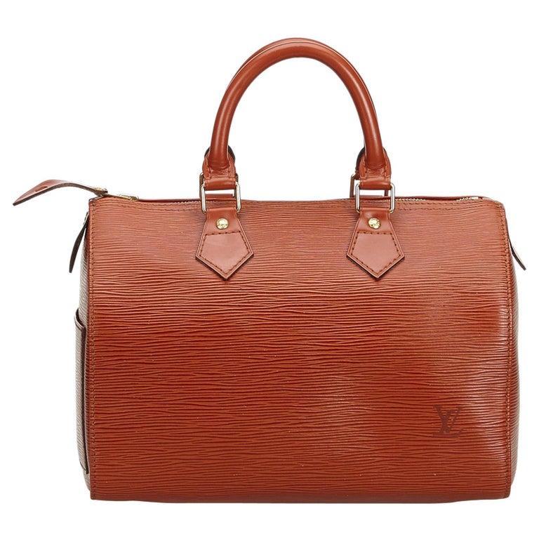 Louis Vuitton Brown Epi Leather Leather Epi Speedy 25 France For Sale