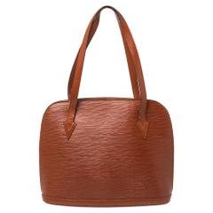 Louis Vuitton Brown Epi Leather Lussac Bag