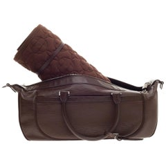LOUIS VUITTON Brown Epi Weekender Yoga Sport Bag with Monogram LV Mat Set UNWORN