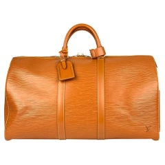 Louis Vuitton Brown Keepall Epi 50