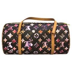 Louis Vuitton Brown Leather Bag Papillon Aquarelle Bag