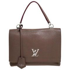 Louis Vuitton Brown Leather Lockme II Bag