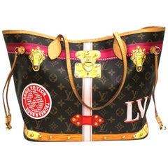 Louis Vuitton Brown Leather Neverfull Trunks Bag