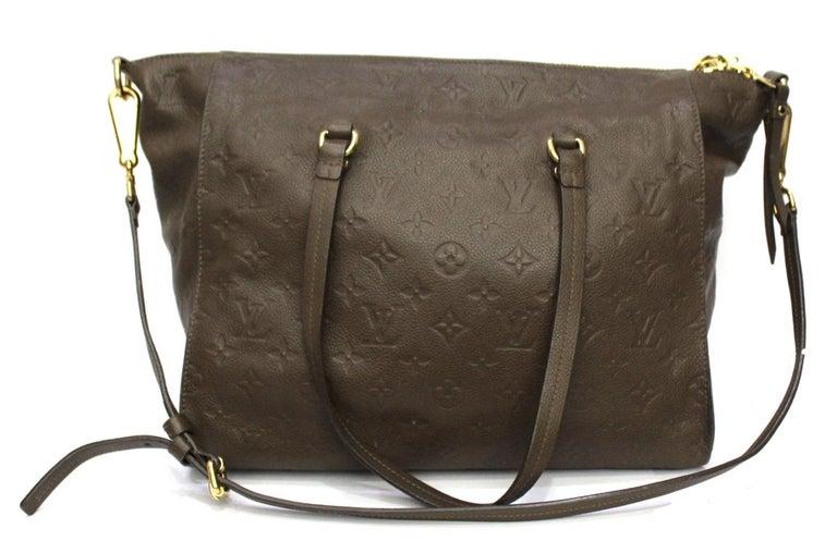 Black Louis Vuitton Brown Leather Ombre Lumineuse Empreinte Bag For Sale