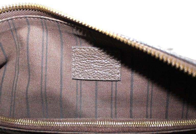 Women's Louis Vuitton Brown Leather Ombre Lumineuse Empreinte Bag For Sale
