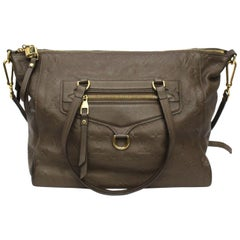 Louis Vuitton Brown Leather Ombre Lumineuse Empreinte Bag