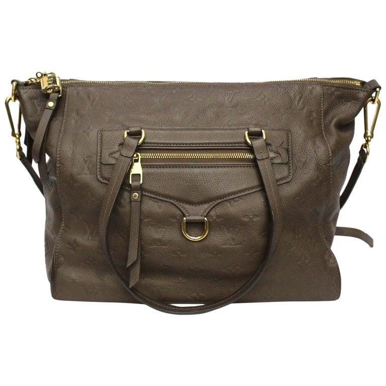 Louis Vuitton Brown Leather Ombre Lumineuse Empreinte Bag For Sale