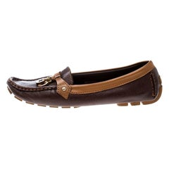 Louis Vuitton Brown Leather Oxford Loafers Size 40