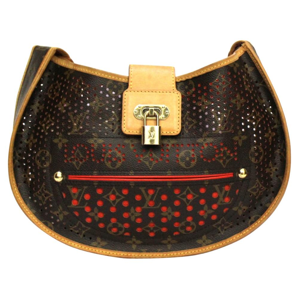 Louis Vuitton Brown Leather Perforated Bag