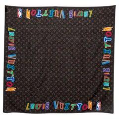 Louis Vuitton Brown LVXNBA Logo Printed Cotton Bandana