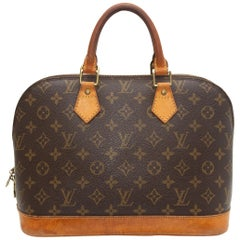 Louis Vuitton Brown Monogram Alma MM Bag