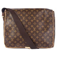 LOUIS VUITTON brown Monogram Canvas ABBESSES Messenger Bag