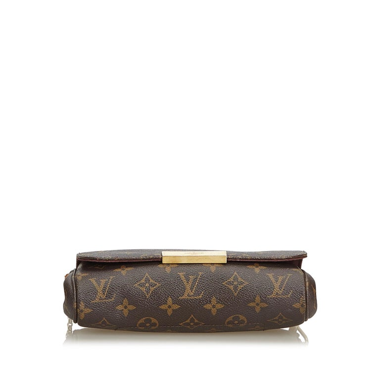 b189434f2d0f5 ... Good Condition For Sale In. Women's Louis Vuitton Brown Monogram Canvas  Canvas Monogram Favorite MM France For Sale