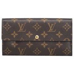 Louis Vuitton Brown Monogram Canvas Canvas Monogram Sarah Wallet Spain w/ Box