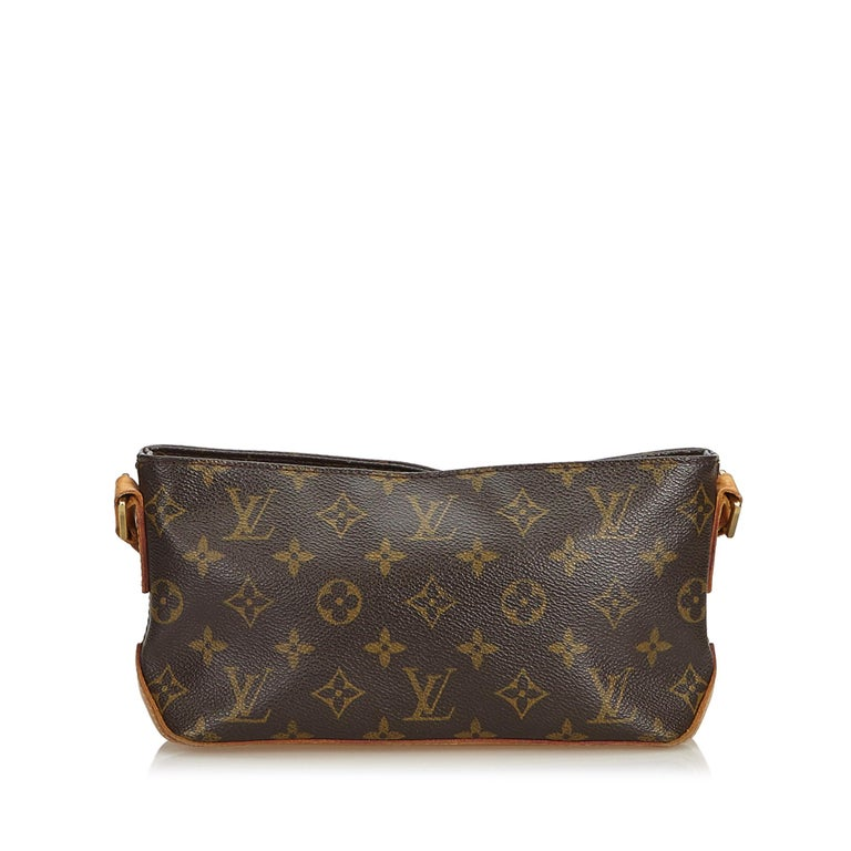Black Louis Vuitton Brown Monogram Canvas Canvas Monogram Trotteur France For Sale