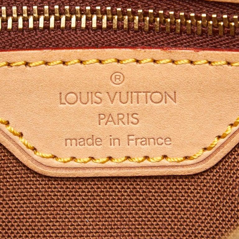 Louis Vuitton Brown Monogram Canvas Canvas Monogram Trotteur France For Sale 1