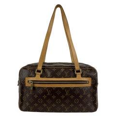 Louis Vuitton Brown Monogram Canvas Cite GM Satchel Tote Bag